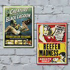 B Movie Canvas Art Prints. Film Poster Home Wall Decor Perfect Gift