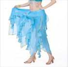 Chiffon Gold Trim Lotus Leaf Long Skirt Swing Kelp Skirt Belly Dance Costumes
