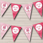 Pink Hot Air Balloon Personalized Baby Shower Bunting Banner
