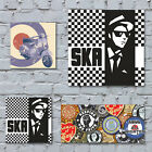 Scooters and Ska Art Canvas Print. MOD Lambretta Vespa Subculture Northern Soul