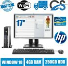 FAST FULL SET DELL HP Core i3 DESKTOP PC LCD Tower COMPUTER WIN10 4GB 250GB HDD