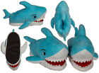 NOVELTY CHILDRENS SHARK SHAPED SUPER SOFT PLUSH COSY SLIPPERS OOTB