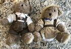 """Pair of Kein Spielzeug 9"""" Brown Plush Toy Bears - Never Played With - Near Mint"""