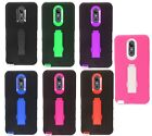 For LG Stylo 4 IMPACT Hard Rubber Case Phone Cover Kickstand