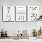 Black White Inspire Food Quotes Posters Nordic Kitchen Wall Art Canvas Paintings