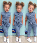 Canis Newborn Kids Baby Girl Denim Romper Long Jumpsuits Playsuit Outfit Clothes