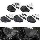 Solo Leather Seat With Bracket Spring Mounting Kit Fit for Harley Chopper Bobber