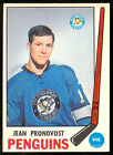 1969 70 OPC O PEE CHEE HOCKEY #155 JEAN PRONOVOST NM PITTSBUTGH PENGUINS CARD