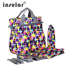 Multipurpose Mommy Shoulder Tote Bag Baby diaper bag with changing pad