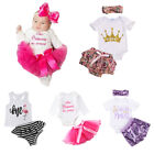 US Stock Infant Baby Girls Tutu 1st Birthday Outfits Romper
