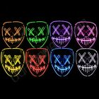 Внешний вид - Light Up Masks Stitched LED Costume Mask (Halloween Rave Cosplay Edm Purge)