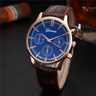 Mens Wrist Watch Stainless Steel Military Sport Geneva GT Gold Style Fashion