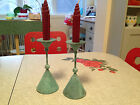 2  TURQUOISE WROUGT IRON CANDLE STICK HOLDERS,RUSTIC. MINT CONDITION NEVER USED