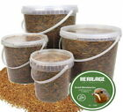 Heritage High Protein Quality Dried Mealworms Wild Bird Food Feed Resealable Tub