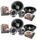 "2) Pairs Rockville X6.5C Competition 6.5"" 1000 Watt Component Car Audio Speakers"