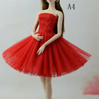 Handmade Doll Dress Clothes For Barbie 1/6 Dolls Party Sequin Tulle Gown Dress