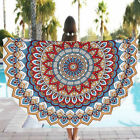 BOHO Mandala Round Beach Tapestry Hippie Throw Yoga Mat Towel Indian Blanket 61""