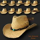 oZtrALa  COWBOY Straw HAT Mens Womens Aussie-Stetson Leather Western OUTBACK Tex