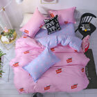 Single Queen King Bed Set Pillowcase Quilt Cover Cotton Blend tUSl Pepper Pig sh