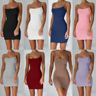 Female Spaghetti Strap Stretchy Package Hip Bodycon Mini Dress Short Club Dress