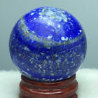 BEST!!! 89g NATURAL LAPIS LAZULI QUARTZ CRYSTAL SPHERE BALL HEALING 58 +stand