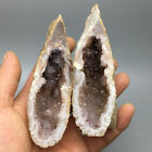Beautiful natural Pair agate crystal hole, mineral specimen.cornucopia 309g  7