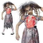 Girls Zombie Corpse Bride Costume Child Deadly Graveyard Halloween Fancy Dress
