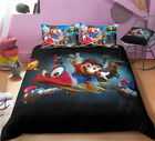 Single Double Twin Full Queen King Bed Pillowcase Quilt Cover Tusl Super Mario image