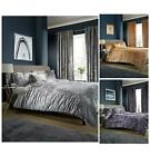 Olivia Rocco Crushed Velvet Duvet Quilt Cover Set, Double King Size Bedding
