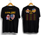 Def Leppard with Journey North American Tour 2018 black T shirt all size image