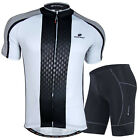 Mens Cycling Jersey  Bicycle Wear Bike Uniforms Clothing Padded Shorts