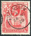 ASCENSION-1924-33  1½d Rose-Red Sg 12 FINE USED V24830