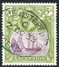 ASCENSION-1927 5d Purple & Olive-Green Sg 15d FINE USED V24832