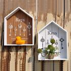 Key Hanging Wall Holder House Patterned Rustic Vintage Style Trendy Home Box New