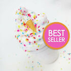 Внешний вид - Ice Cream Birthday Cake w/ Sprinkles & Charm - Scented Butter Slime (Daiso)