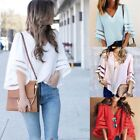 Mesh Yarn Solid Color Women's Clothing Loose Tees Blouses &