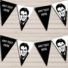 Elvis Presley White Black Birthday Bunting Garland Personalized Flag Banner
