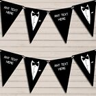 Tuxedo Black Tie Ball Prom James Bond Birthday Bunting Garland Flag Banner $9.59 USD on eBay