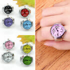 Cartoon Novelty Lady Steel Round Finger Ring Fashion Quartz Watch Elastic Ring image