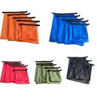 5pcs Waterproof Dry Bag Outdoor Beach Buckled Storage Sack Travel Drifting Bags