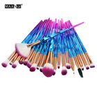 20pc pro mermaid glitter makeup brushes set