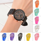 Unisex Three Eye Ring Silicone Students Watch Sports Dial Quartz Wrist Watch 41