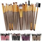 22PC Wooden Foundation Cosmetic Eyebrow Eyeshadow Brush Make