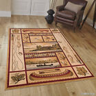 AllStar Rugs African Contours Brown Area Rug