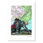 East Urban Home 'Jersey Shore Lucy Margate Elephant' Graphic Art image
