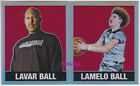 (2)2018 LEAF ORIGINALS METAL RED 35+36: LaVAR/LaMELO BALL #2/3 REFRACTOR 1/1 LOT