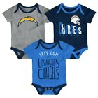 "Los Angeles Chargers NFL ""Lil Tailgater"" Infant 3 Pack Bodysuit Creeper Set $19.95 USD on eBay"