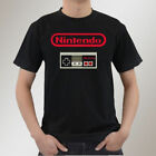 NEW Nintendo Logo Controller Cool Black T-Shirt Men's S To 5XL
