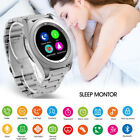 Heart Rate Wristwatch Bluetooth Smart Watch Stainless Steel For Samsung iPhone