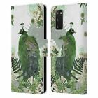 OFFICIAL MONIKA STRIGEL TROPICAL PEACOCK LEATHER BOOK CASE FOR SAMSUNG PHONES 1